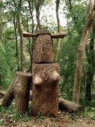 多峯主山の木像
