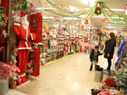 クリスマス用品の店
