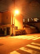 オレンジ色の夜の街