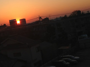 夕日沈む街
