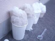 真冬のかき氷