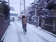 雪道自転車