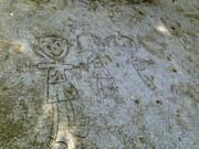 砂に描かれた絵