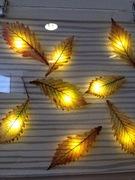 葉っぱの照明作品