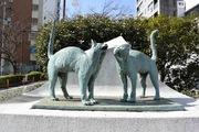 品川の猫像
