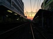 夕闇迫る東上線