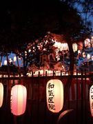 神社で盆踊り