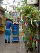 商店街の笹飾り